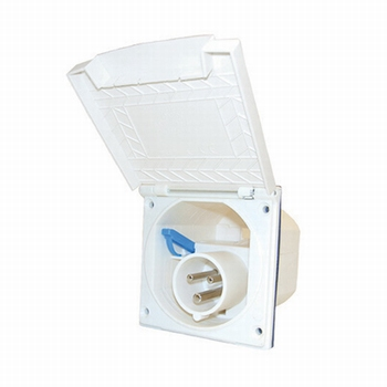 CEE stopcontact nieuw model wit