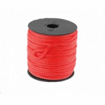 Scheerlijn op rol rood 3mm. 50 mtr.