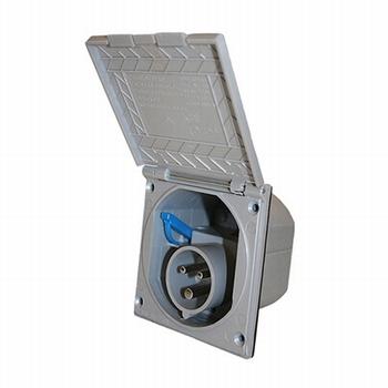 CEE stopcontact zilvergrijs