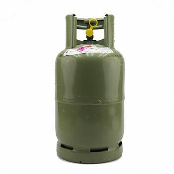 Stalen gasfles groen inclusief vulling (5)