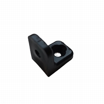 Meubel / hoekverbinder 2 gaats zwart