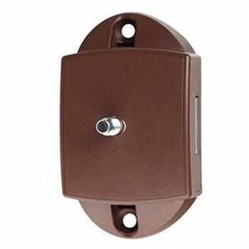 Pushlock-slot spanjolet tweezijdig bruin