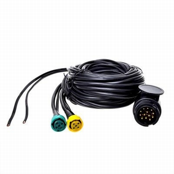 Kabelset 13 polig 5m met connectors+4 DC