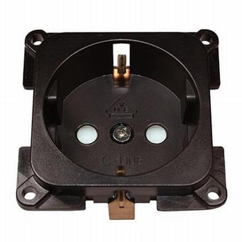 C-line stopcontact bruin