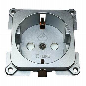 C-line stopcontact zilver
