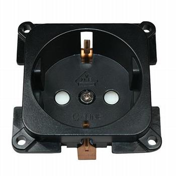 C-line stopcontact zwart