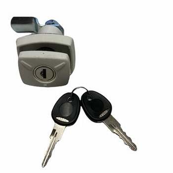 Disselbakslot wit met cilinder FF2