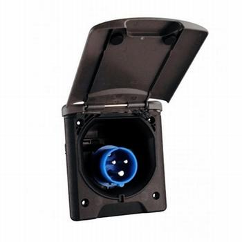 CEE stopcontact design 2014 zwart