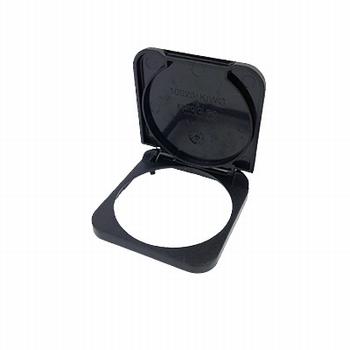 Inprojal klapdeksel stopcontact zwart
