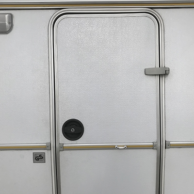 Oberholz deurslot rechts zwart compleet