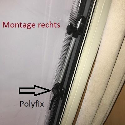 Raamuitzetter buis rechts Polyfix 20cm