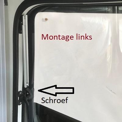 Raamuitzetter klik links schroef 30cm