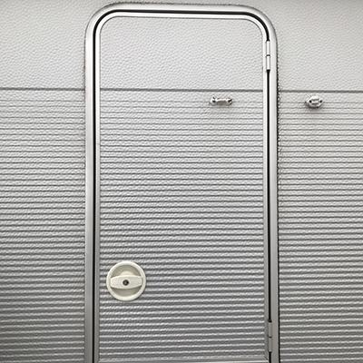 Vecam deurslot rechts wit compleet