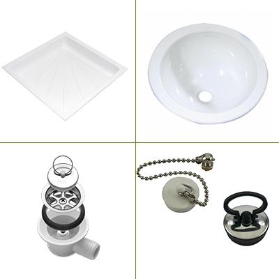 Was/douchebakken & onderdelen